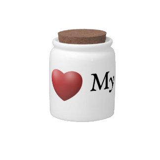 I Love My Dads Pet Treat/Candy Jar Candy Jars