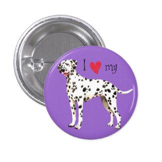 I Love my Dalmatian Button