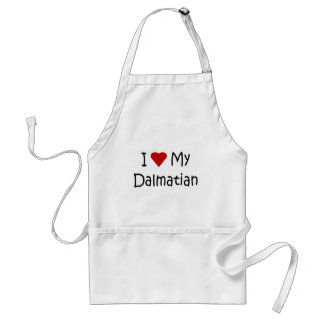 I Love My Dalmatian Dog Breed Lover Gifts Adult Apron