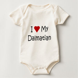 I Love My Dalmatian Dog Breed Lover Gifts Baby Bodysuit
