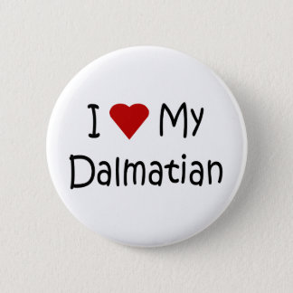 I Love My Dalmatian Dog Breed Lover Gifts Button