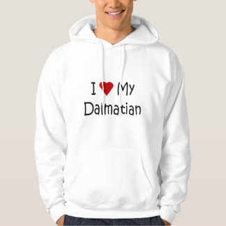 I Love My Dalmatian Dog Breed Lover Gifts Hoodie
