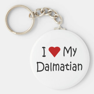 I Love My Dalmatian Dog Breed Lover Gifts Keychain