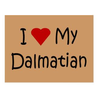 I Love My Dalmatian Dog Breed Lover Gifts Postcard