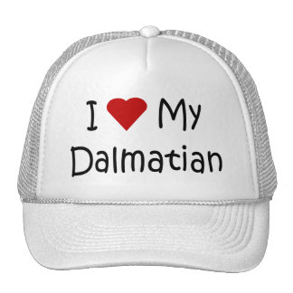 I Love My Dalmatian Dog Breed Lover Gifts Trucker Hat