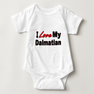 I Love My Dalmatian Dog Gifts and Apparel Baby Bodysuit