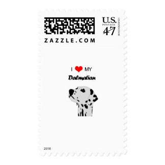 I Love My Dalmatian Dog Heart Postage Stamp