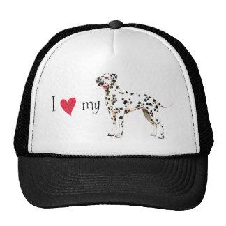 I Love my Dalmatian Mesh Hat