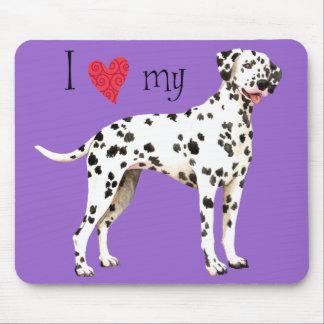 I Love my Dalmatian Mouse Pad