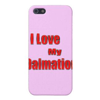 I Love My Dalmation 2 iPhone SE/5/5s Cover