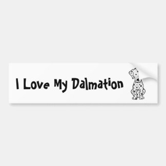 I Love My Dalmation Bumper Sticker