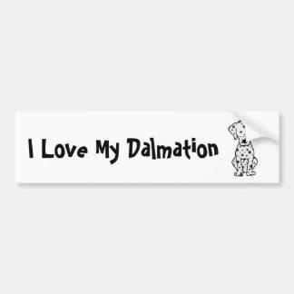 I Love My Dalmation Bumper Sticker
