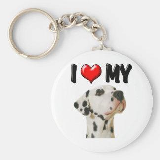 I Love My Dalmation Keychain