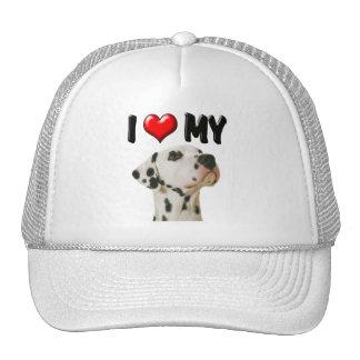 I Love My Dalmation Trucker Hat