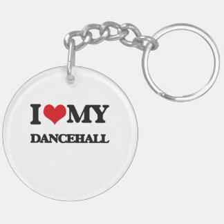 I Love My DANCEHALL Double-Sided Round Acrylic Keychain