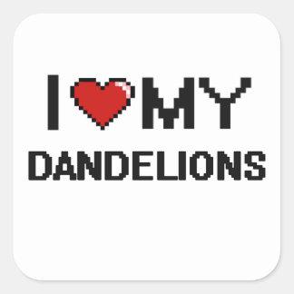I Love My Dandelions Digital design Square Sticker