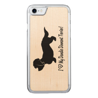 I Love My Dandie Dinmont Terrier Carved iPhone 8/7 Case