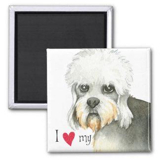 I Love my Dandie Dinmont Terrier Magnet