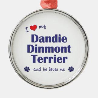 I Love My Dandie Dinmont Terrier (Male Dog) Ornament
