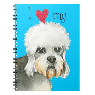 I Love my Dandie Dinmont Terrier Spiral Notebook