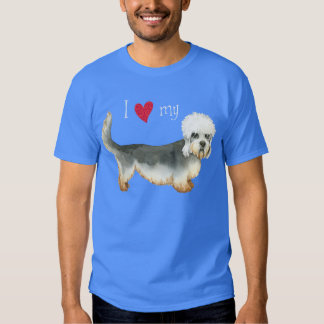 I Love my Dandie Dinmont Terrier Tee Shirt