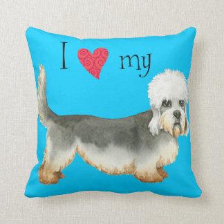 I Love my Dandie Dinmont Terrier Throw Pillow