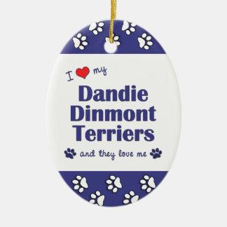 I Love My Dandie Dinmont Terriers (Multiple Dogs) Christmas Tree Ornaments