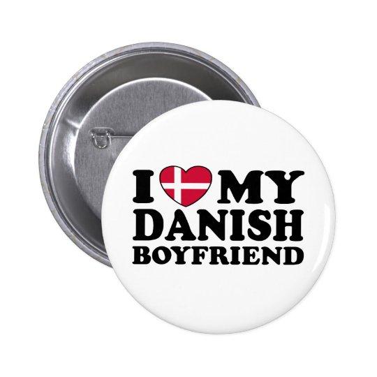 I Love My Danish Boyfriend Pinback Button