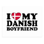 I Love My Danish Boyfriend Postcard