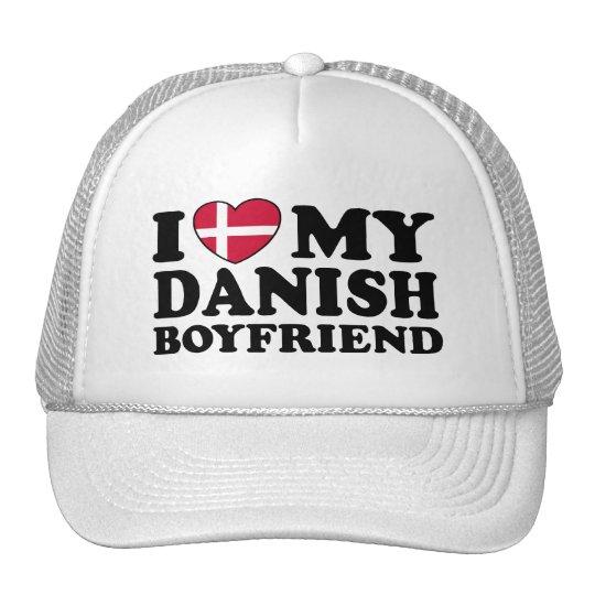 I Love My Danish Boyfriend Trucker Hat