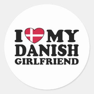 I Love My Danish Girlfriend Classic Round Sticker