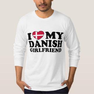 I Love My Danish Girlfriend Tee Shirt