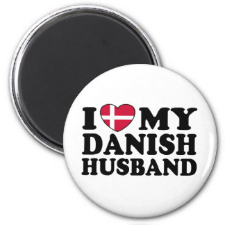 I Love My Danish Husband 2 Inch Round Magnet