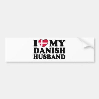 I Love My Danish Husband Bumper Sticker