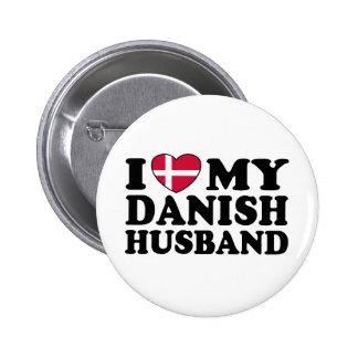 I Love My Danish Husband Button
