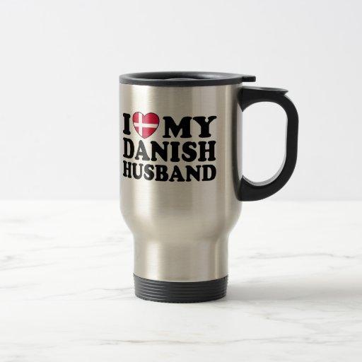 I Love My Danish Husband Travel Mug