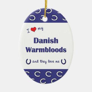 I Love My Danish Warmbloods Multiple Horses Christmas Tree Ornaments