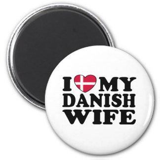 I Love My Danish Wife 2 Inch Round Magnet