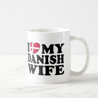 I Love My Danish Wife Coffee Mugs
