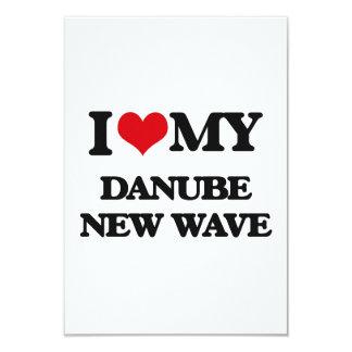 I Love My DANUBE NEW WAVE 3.5x5 Paper Invitation Card