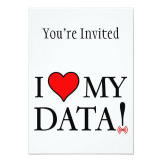 I Love My Data Card