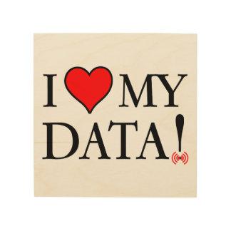 I Love My Data Wood Wall Art