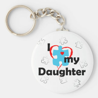 I Love My Daughter - Autism Keychain