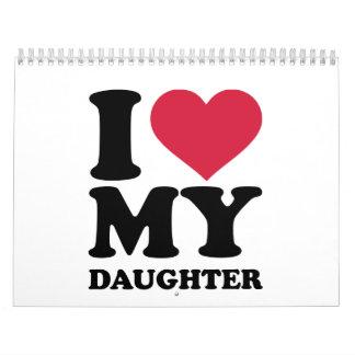 I love my daughter calendar