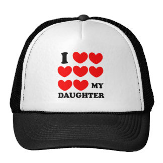 I Love My Daughter Hats