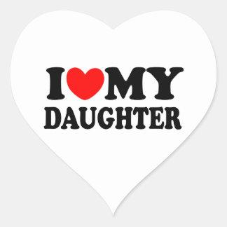 I Love My Daughter Heart Sticker