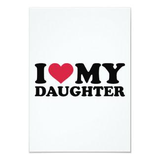 I love my daughter personalized invite