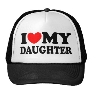 I Love My Daughter Mesh Hats