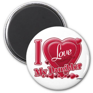 I Love My Daughter red - heart Magnet