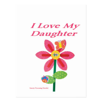 i love my daughter spd postcard
